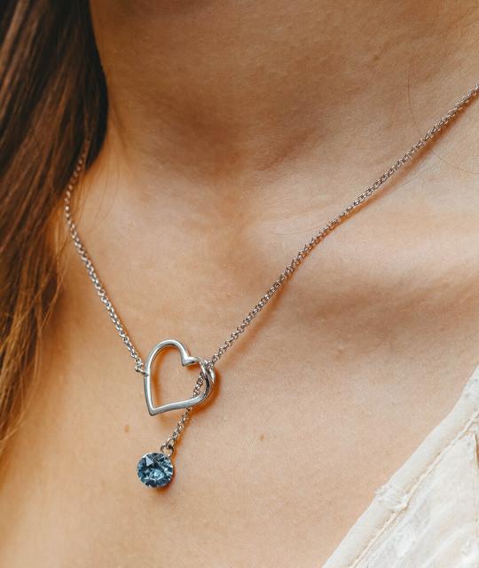 Riipus Xirius Heart, Aquamarine