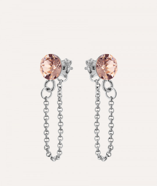 Earrings Xirius Chain, Silk