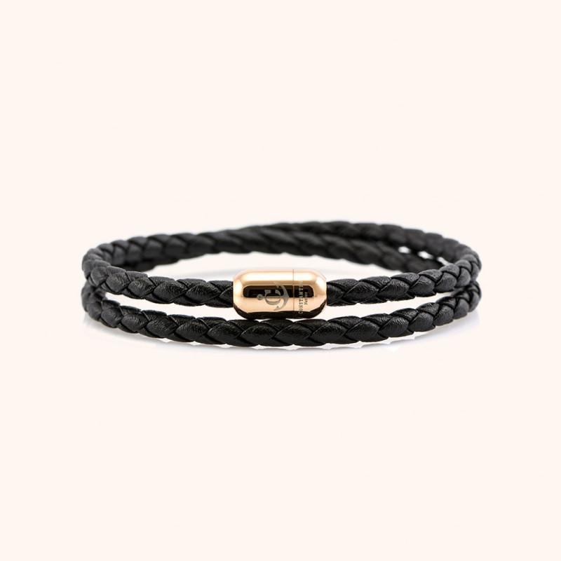 Magnetic leather bracelet JACK TAR # 10037 - 17 cm