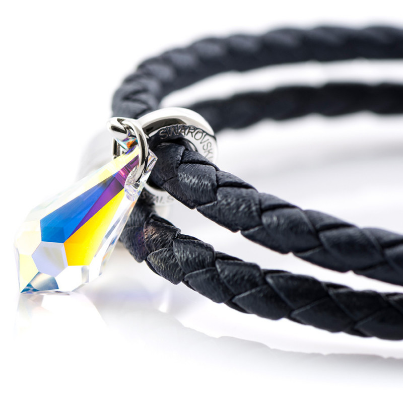 Magnetic leather bracelet SWAROVSKI BECHARMED # 7228 - 17 cm