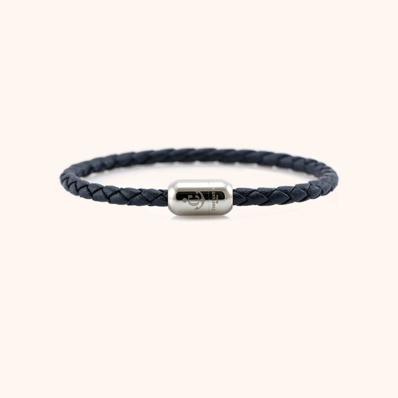Magnetic leather bracelet CNJ # 10032 - 17 cm