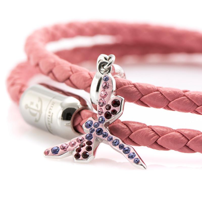 Magnetic leather bracelet SWAROVSKI BECHARMED # 7225 - 17 cm