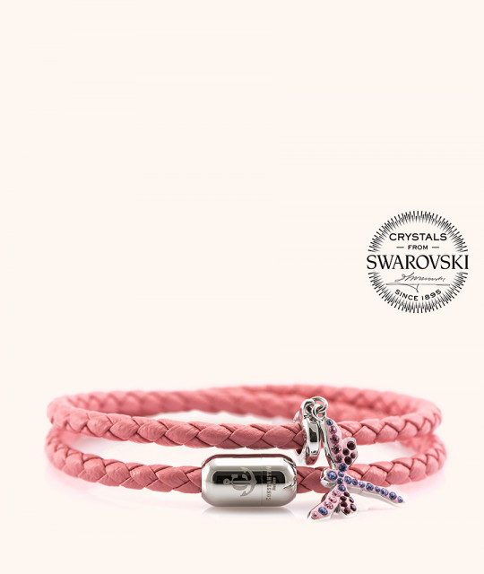 Magnetic leather bracelet SWAROVSKI BECHARMED # 7225 - 17 cm
