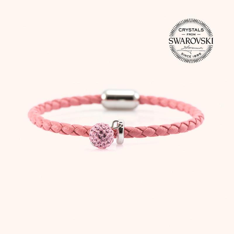 Magnetic leather bracelet SWAROVSKI BECHARMED # 7231 - 16 cm