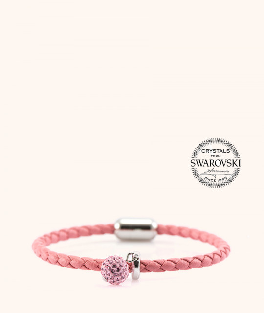 Magnetic leather bracelet SWAROVSKI BECHARMED # 7231 - 16 cm