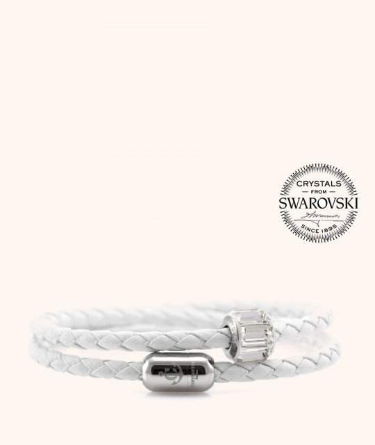 Magnetic leather bracelet SWAROVSKI BECHARMED # 7223 - 17 cm