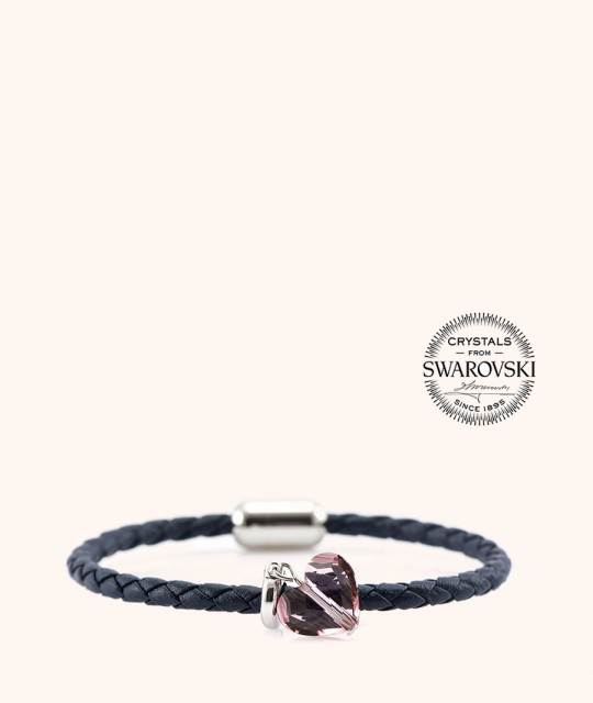 Magnetic leather bracelet SWAROVSKI BECHARMED # 7232 - 17 cm