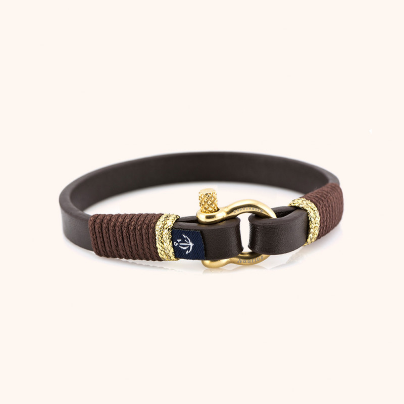Magnetic leather bracelet JACK TAR CNJ # 10009 - 20 cm