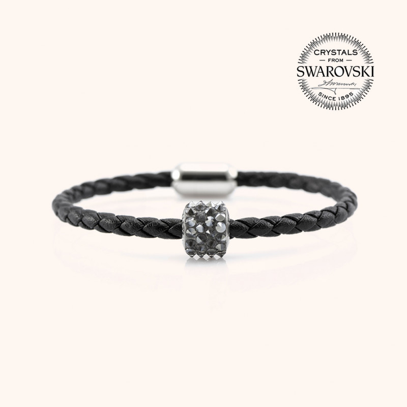 Leather bracelet SWAROVSKI BECHARMED # 7234 - 17 cm