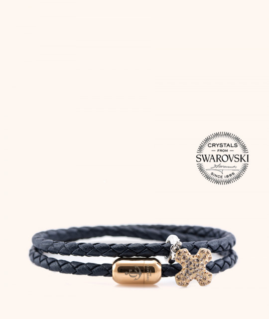 Magnetic leather bracelet SWAROVSKI BECHARMED # 7226 - 17 cm