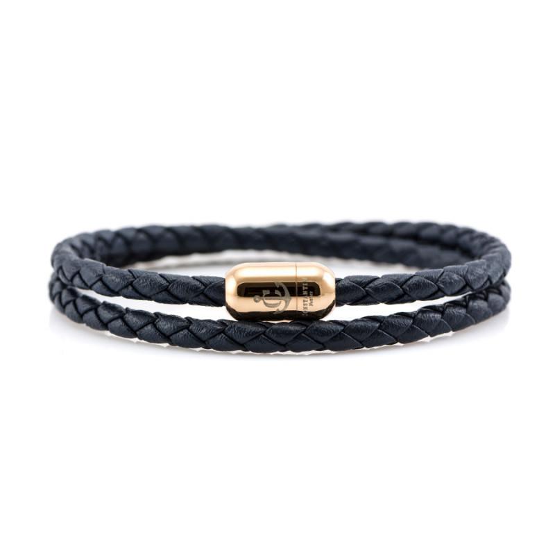 Magnetic leather bracelet JACK TAR CNJ # 10038 - 19 cm