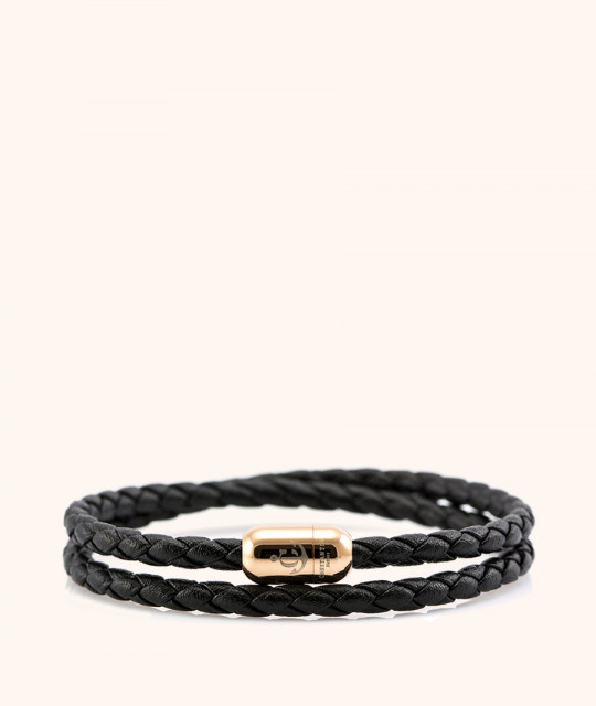 Magnetic leather bracelet JACK TAR # 10037 - 17 cm
