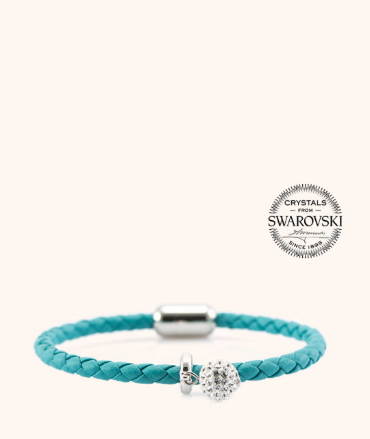 Magnetic leather bracelet - SWAROVSKI BECHARMED # 7233 - 17 cm
