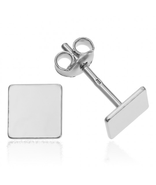 Earrings Square, 6 mm