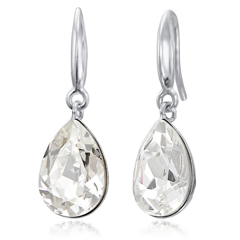 Earrings Fancy Pear, Crystal Clear