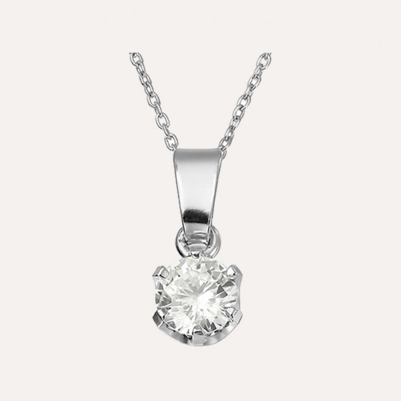 925 Silver necklace with Cristals from Swarovski buc 2 6.522 13.04 exempt with deduction Xirius Queen 6mm