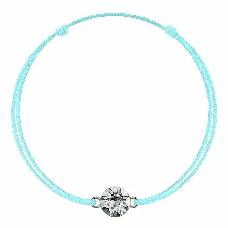 Голубая каббала с кристаллом Swarovski Xirius, Crystal Clear