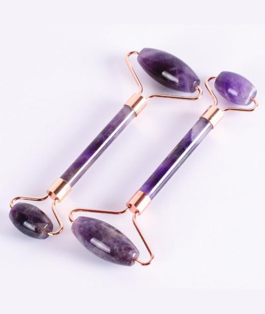Jade Roller, Amethyst Crystal