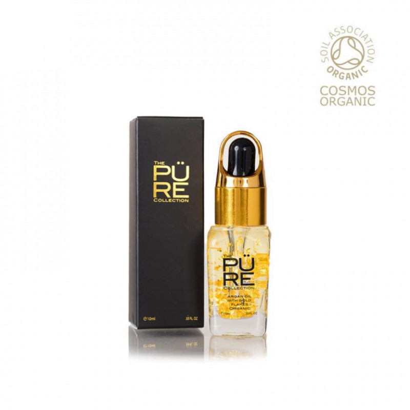 Argan oil 100% certified organic with 22KT gold flakes