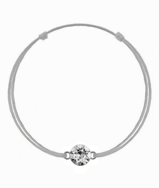Silver kabbalah with Swarovski Xirius crystal, Crystal Clear