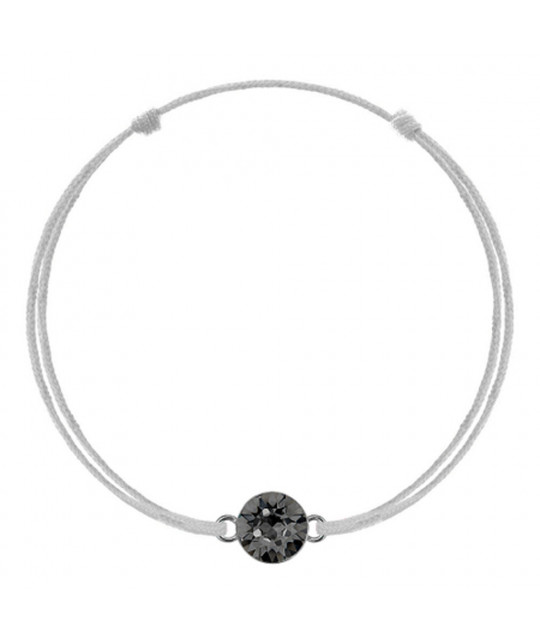 Silver kabbalah with Swarovski Xirius crystal, Silver Night
