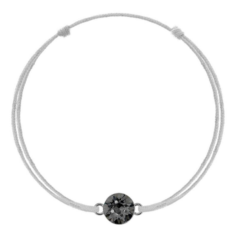 Silver kabbalah with Swarovski Xirius crystal, Silver Night