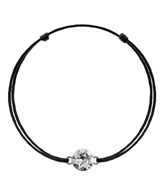 Black kabbalah with Swarovski Xirius crystal, Crystal Clear
