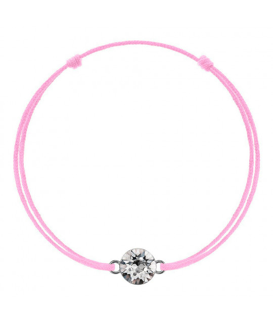 Pink kabbalah with Swarovski Xirius crystal, Crystal Clear