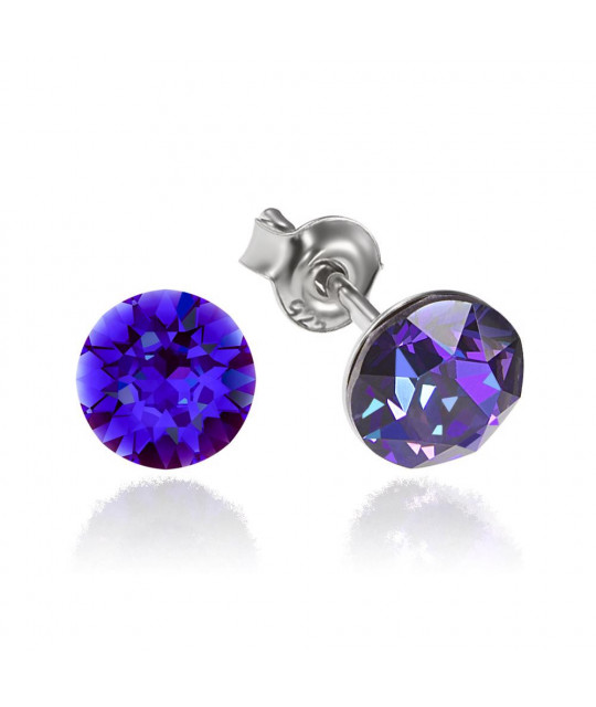 Earrings Xirius, Heliotrope, 6 mm