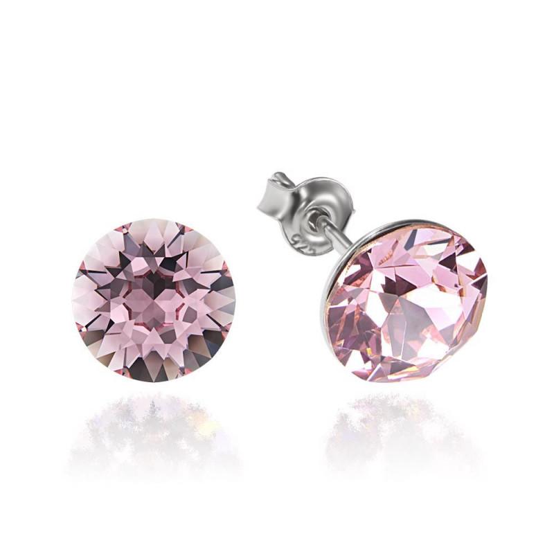 Earrings Xirius, Light Rose, 8 mm