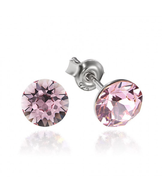 Earrings Xirius, Light Rose, 6 mm