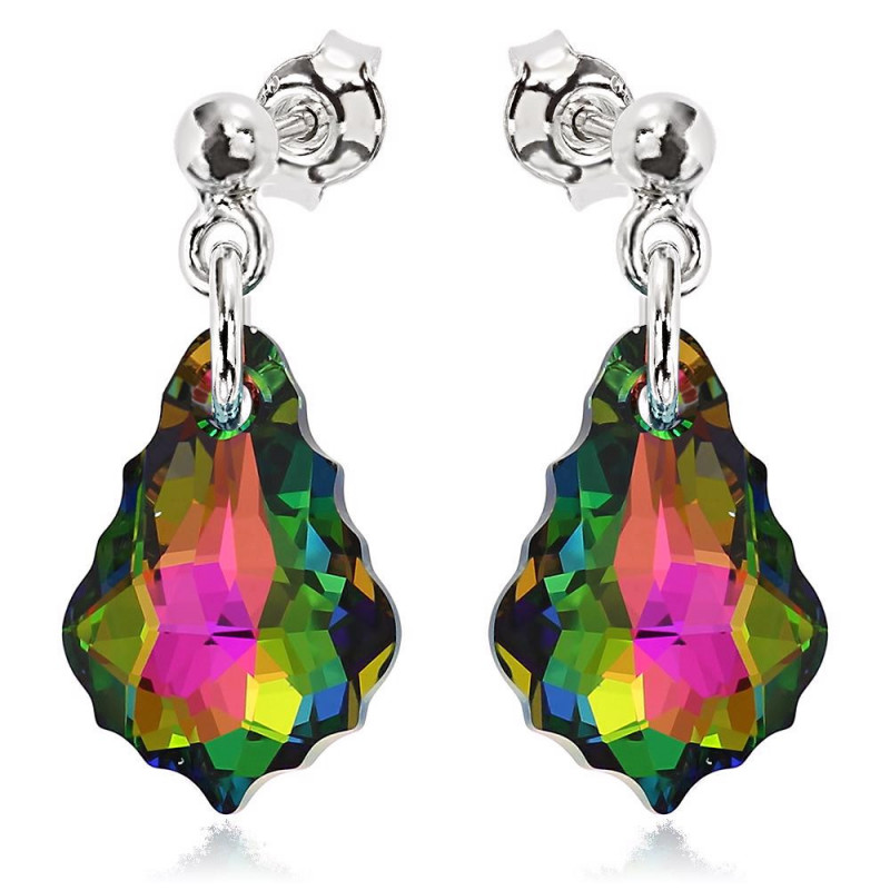 Earrings Baroque, Vitrail Medium