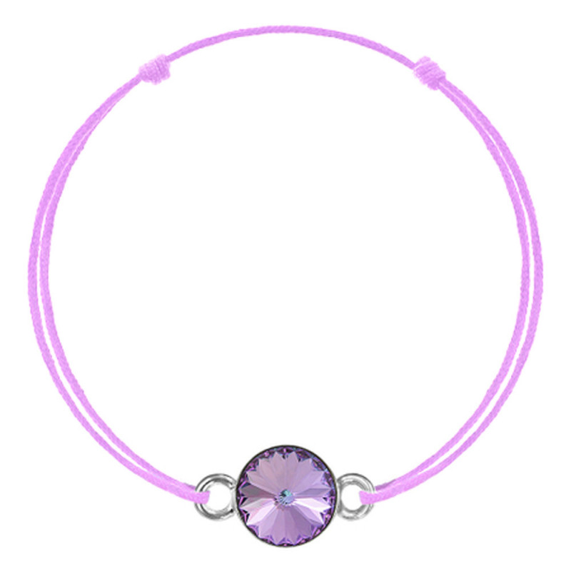 Mauve kabbalah with Swarovski Rivoli crystal, Vitrail Light