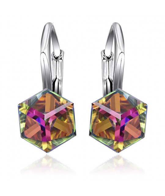 Earrings Cubic, Vitrail Medium