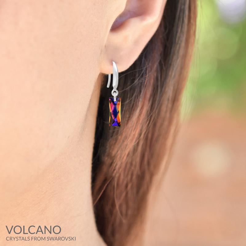 Earrings Mini Queen Baguette, Volcano