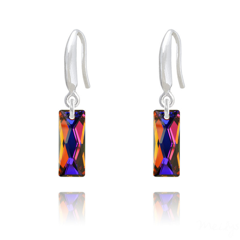 Earrings Mini Queen Baguette, Volcano