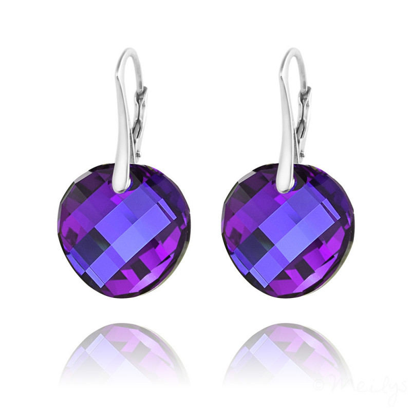 Earrings Twist, Heliotrope, 18 mm