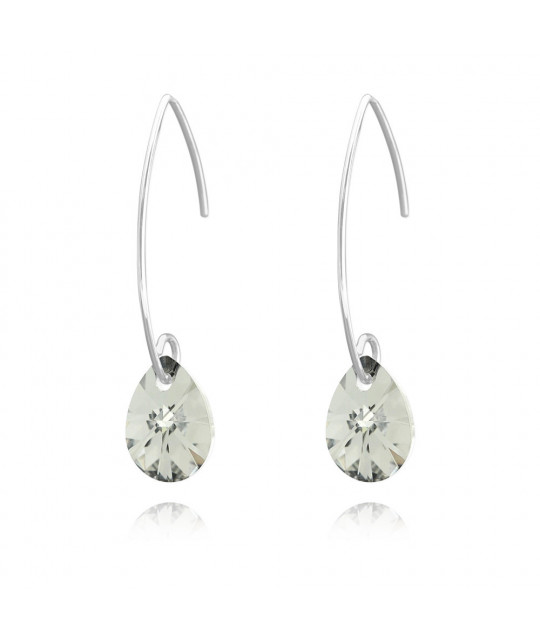 Earring Pear Xilion, Comet Argent Light, 12 mm