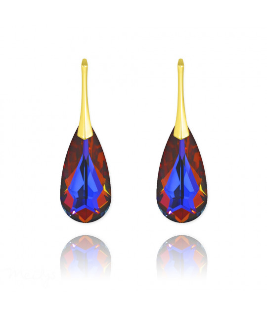 Earrings Teardrop, Volcano, 24 mm