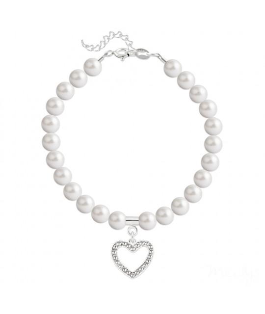 Rannekoru Heart Silver, Pearl White