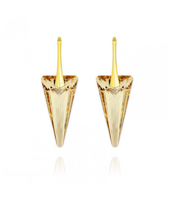 Earrings Spike, Golden Shadow, 28 mm