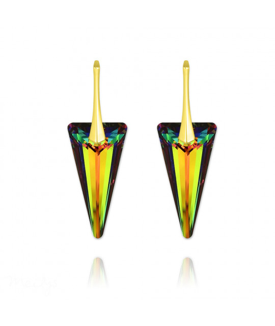 Earrings Spike, Vitrail Medium, 28 mm