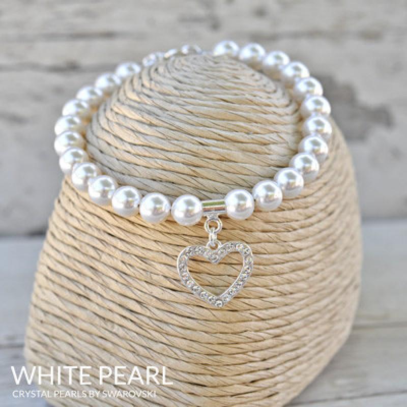 Käevõru Heart Silver, Pearl White