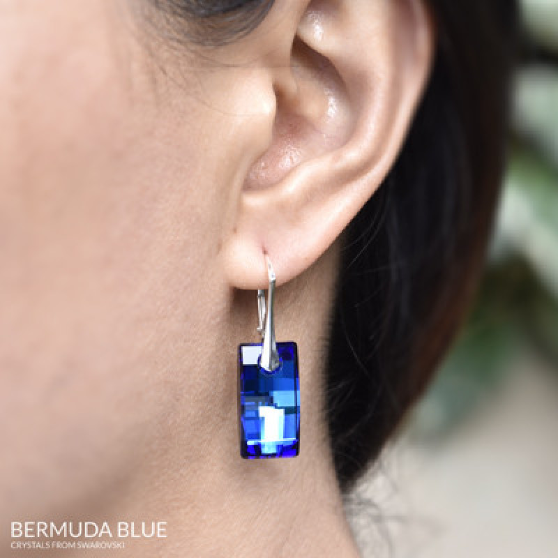Earrings Urban, Bermuda Blue, 20 mm