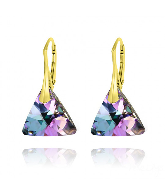 Earrings Triangle, Vitrail Light, 16 mm