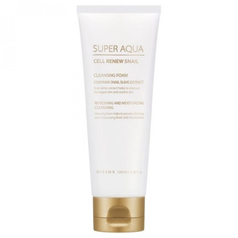 Missha Super Aqua Cell Renew Snail Cleansing Foam, 100 ml