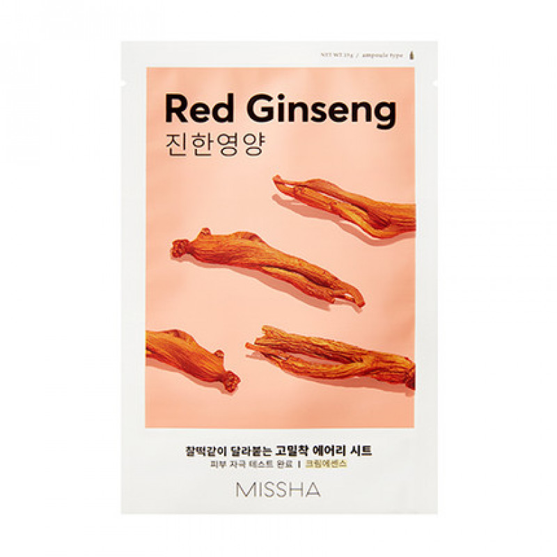 "Missha Airy Fit Sheet Mask ""Red Ginseng"", 19 g"