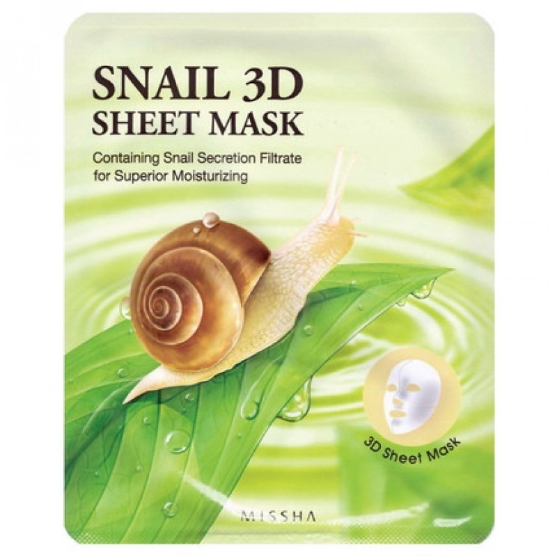Missha Snail 3D Sheet Mask, 23 g
