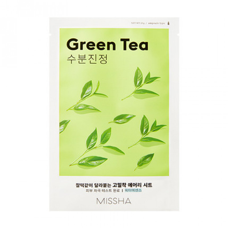 "Missha Airy Fit Sheet Mask ""Green Tea"", 19 g"