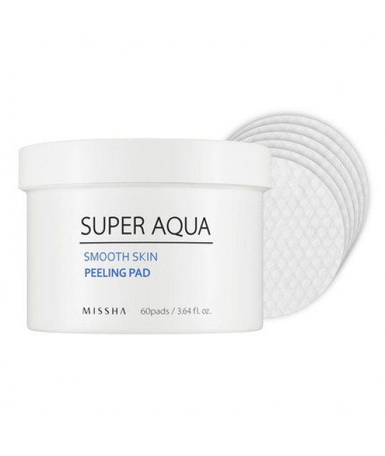 Missha Super Aqua Smooth Skin Peeling Pad, 60 pcs